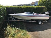 Picton 15/60 with 25 hp outboard ready to go.