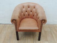 Genuine leather distressed brown Chesterfield (Delivery)