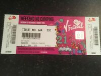 V-FESTIVAL TICKET full weekend 20th/21st Aug Staffordshire. g.r.f.s. cost £165 sell £100 ono