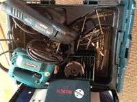 bocsh muilti tool and makita jigsaw together
