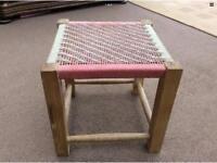 Oak vintage stool