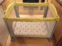 Mothercare travel cot. Excellent clean condition.