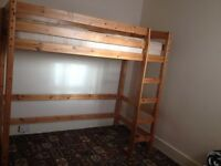 High single bunk bed sleeper cabin bed with mattress