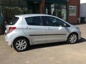 Toyota Yaris 1.4 D-4D Silver 2013 FULLY LOADED Car With Toyota 5 Year Warranty *LIMITED EDITION*
