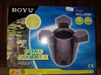 Pond kimmers surface filter