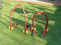 PADDOCK STANDS, FRONT AND REAR BARGAIN £35