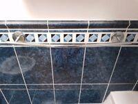 ~~## Bathroom towel rail, Glass shelf, tumbler and toilet roll holder set ##~~
