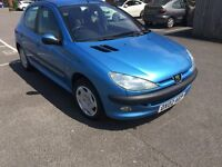 02 PEUGEOT 206 GLX 1.4 LITRE PETROL 5 DOOR HATCHBACK***NEW MOT 24/5/18 NO ADVISORIES***NICE CAR