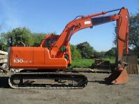 Daewoo solar 130lc 13 Ton Excavator.yr 1999,hrs12000,2 Buckets,Tracks and sprockets 90 %