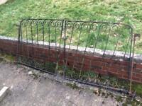Pair of ornate cast iron gates