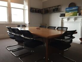 Great 8 seater boardroom desk for small office