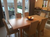 Marks & Spencer dining table & 6 chairs with matching sideboard