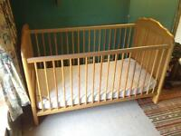 Cosatto cot bed with mamas and papas matress