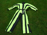 oxford bone dry one piece waterproof suit size L but think that it is more like a medium