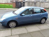 Ford Focus Ghia 1.6 Blue (Petrol) 5Dr, 5 Seats all with Full seat belts. Ideal Family car. Lrg Boot