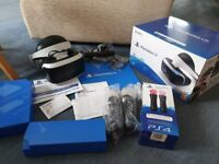 PlayStation VR headset with PlayStation Camera and Move controllers