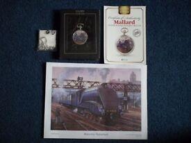 2 X Mechanical pocket watches celebrating British steam engines