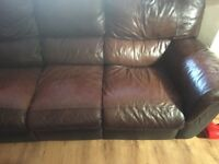 Selling 3 and 2 leather recliners sofas
