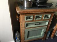 Kitchen island- solid wood and granite