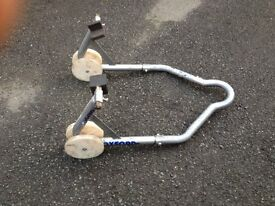 Motorcycle rear paddock stand