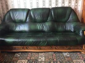***Sofa Set Real Leather 3 Piece*** ***HIGH QUALITY***