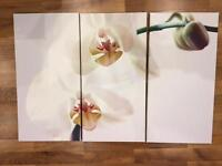 Flower design canvas home painting