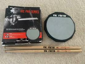 Vic Firth Drumsticks and practice pad