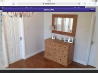 """Solid wood mirror. 47"""" x 34"""". Fab condition and quality."""