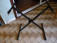keyboard stand fully adjustable quality stand for any keyboard with a quick release slot,folds flat,