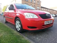 ★ 1 OWNER ★ 2004 Toyota Corolla 1.4 VVT-i T2, 5dr ★ ONLY 120,000 MLS ★ V. LONG MOT ★ Full S/H