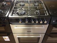 Silver 60cm gas cooker