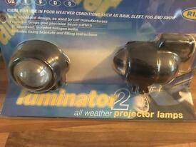 Luminator 2 all weather projection lamps, rain sleet fog or snow