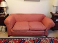 Antique Chesterfield 2 seater drop-arm sofa.