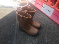 Work steel toe boots