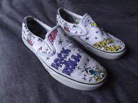 Vans Unisex Shoes, Rock 'n' Roll Print UK 6.5
