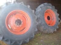 Tractor digger tyres wheels