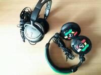 Philips SBC HP2500&No Fear Amplifi DJ Head phones
