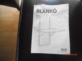 BLANKO BALCONY FOLDABLE TABLE NEW NOT USED