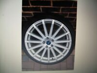 WANTED FORD FOCUS RS MK2 X4 ALLOY WHEELS AND TYRES 19 INCH