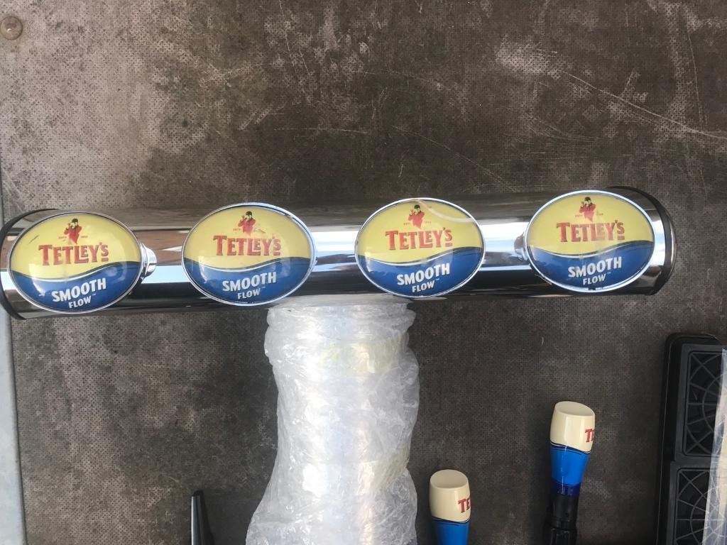 TETLEYS 4 T BAR BEER FONT PUMP