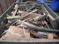 Free to collector- trailer full of kindling/ firewood (trailer not included)