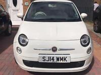 Fiat 500 pop S-A automatic 2014, 930miles only lady owner reverse cam