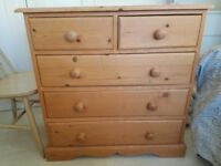 2 solid wood chest of drawers