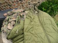 ARMY ISSUE ARCTIC SLEEPING BAG & DPM BERGEN RUCKSACK
