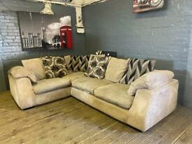 HARVEYS LULLABY FABRIC CORNER SOFA IN EXCELLENT CONDITION