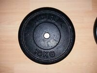 6 x York 10kg Weight plates - Cast Iron