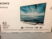 "BRAND NEW UNOPENED 43"" Sony Bravia WD75"