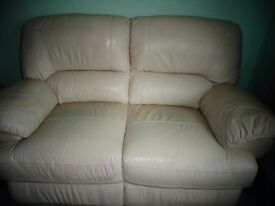 2 SEATER LEATHER SOFA. VERY GOOD CONDITION HARDLY USED