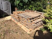 Pallets. 1 large, 9 medium FREE to collector