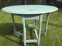 Vintage distressed small leaf table